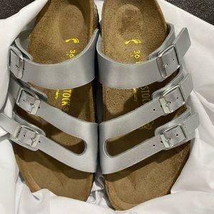 Birkenstock Women's Florida Silver Sandals